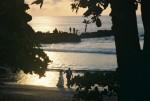 ocean wedding at sunset